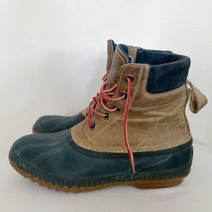 Sorel Cheyanne Lace Up Duck Boots 10.5